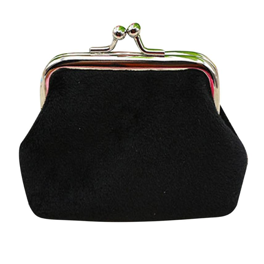 MUQGEW  luxury brand Womens Corduroy Small Wallet credit card holder Coin Purse Clutch Handbag Solid color Mini Bag fashion