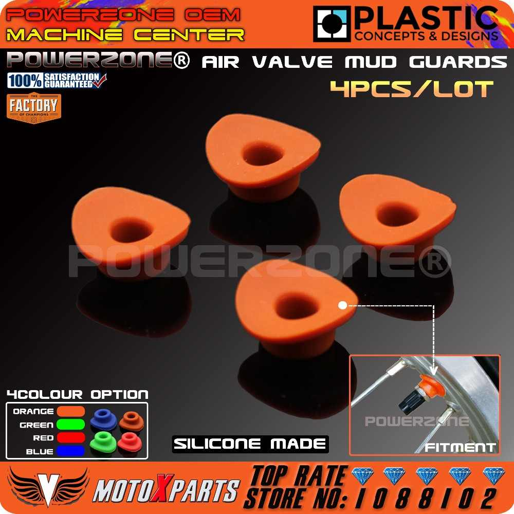 Orange silicone air válvula de lama guardas boca anilhas junta para ktm exc EXCF SX SXF XCW XC XCF CRF YZF KXF Motocicleta Da Bicicleta Da Sujeira