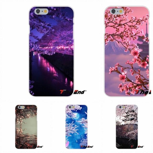 Loving Japan sakura Cherry blossoms Slim Silicone Case For iPhone X 4 4S 5 5S 5C SE 6 6S 7 8 Plus Galaxy Grand Core Prime Alpha