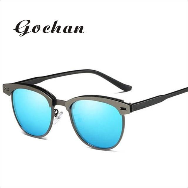 GOCHAN novos homens e mulheres da moda óculos de sol design de moda low-key b2c8871195