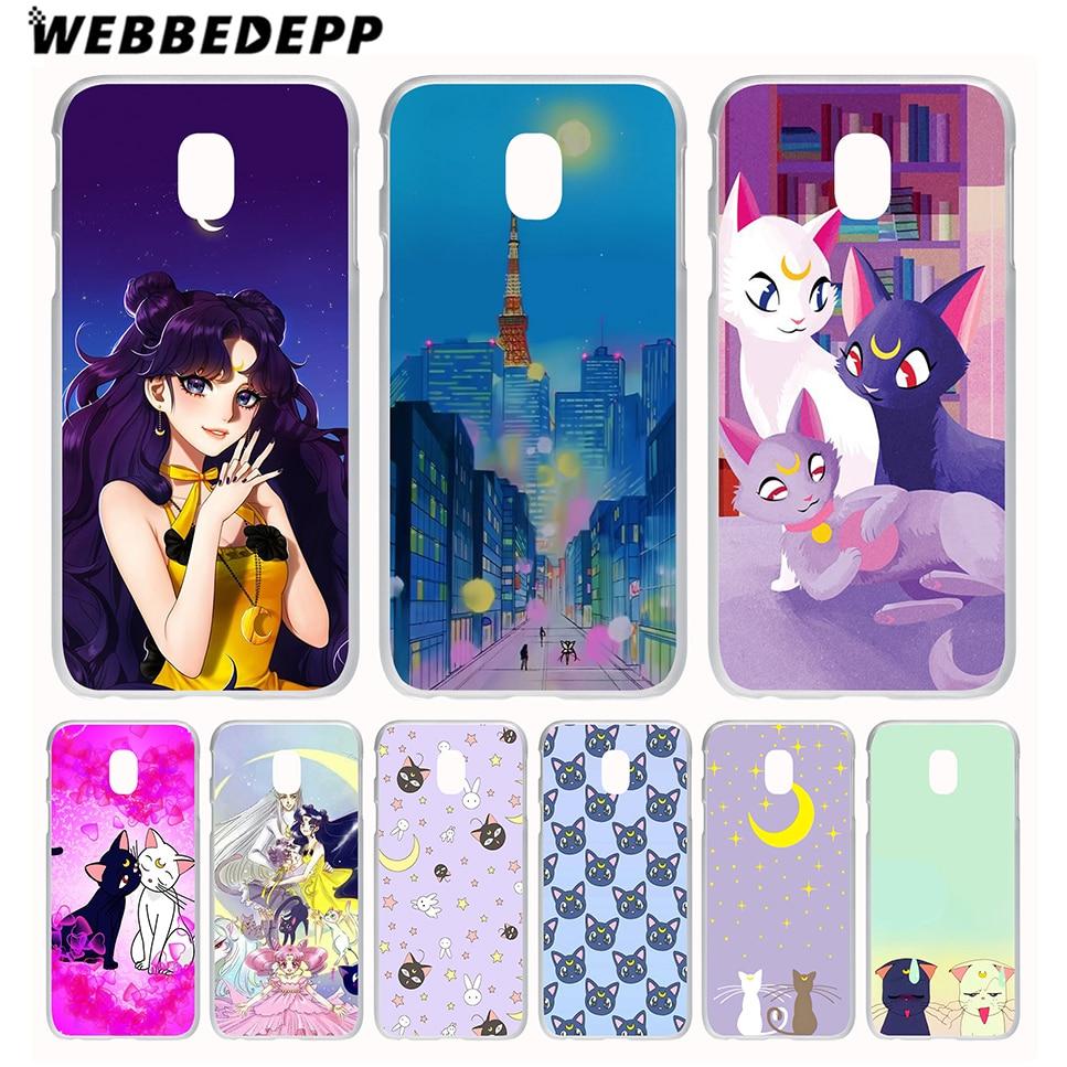 WEBBEDEPP Sailor moon luna and arthemis Case for Galaxy J1 J2 Ace J3 J5 J7(2015/2016/2017/Prime) EU US Version