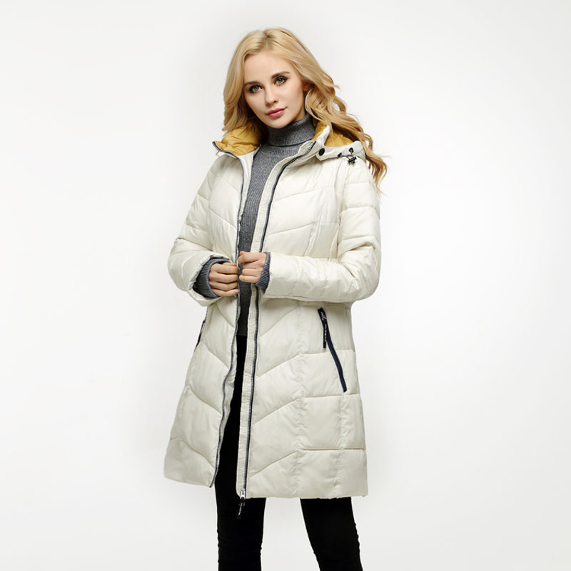 Russia and Europe winter coat womem medium-long jacket with a hood young girl beige parka plus size 52-58 VLCB-Q509 2016 new mori girl national trend loose plus size with a hood denim autumn and winter women medium long plus cotton thick vest