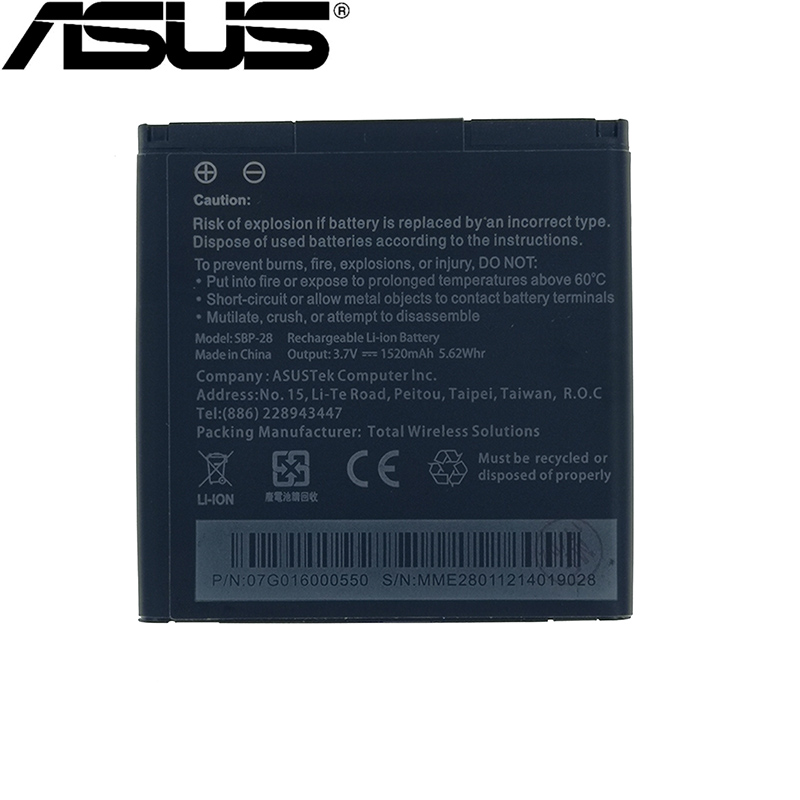 ASUS High-Quality Battery A66-Phone 1520mah Original SBP-28 Padfone For Tracking-Number