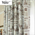 New arrival Europe window curtains retro newspaper designer bedroom curtain full sun-shading curtains for living room DS064#40