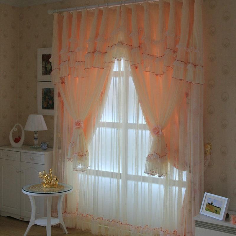 Stores romains de luxe la chaîne coréenne de tulle le rideau shalian dentelle rideau qualité chambre fenêtre rideaux pour salon - 3