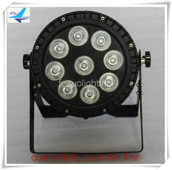 T-(12/lot) IP 65 outdoor 9*15W rgbwa 5 in 1 LED Flat Par Light Decorative LED Par Factor ...