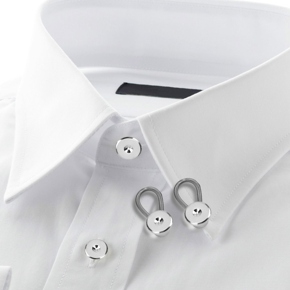 12 Pack 10 mm// 0.38 Inch Metal Collar Extenders Button Extenders for Shirt Dress Trouser Coat Collars Pants