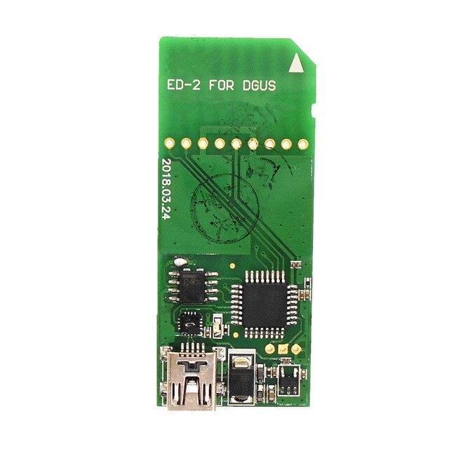 Pantalla de emulación de ED 2 serie DGUS, downloader, tablero de descarga de alta velocidad, imagen de fuente con cable