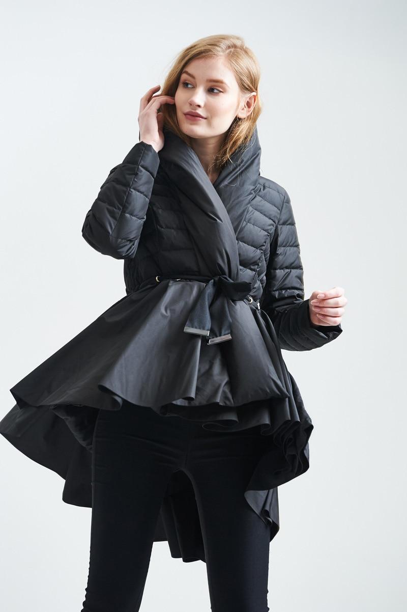 4feb89c9a003 YMOJNV 2018 Winter Womens Down Jackets Hooded 90% White Duck Down High  Quality Warm Black Skirt Style Winter Coat Female Parka