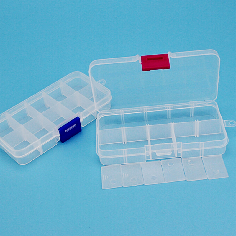 1pc Practical DIY Tools Packaging Box 10 Slots Electronic Spare Part Removable Storage Box Screw Jewelry Sewing Plastic Tool Box