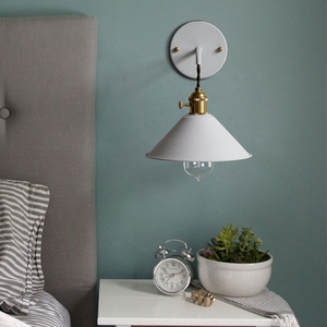 Image 5 - Modern simple iron wall lamp country home deco wall light LED with 7 colors for bedroom living room restaurant cafe shop aisle