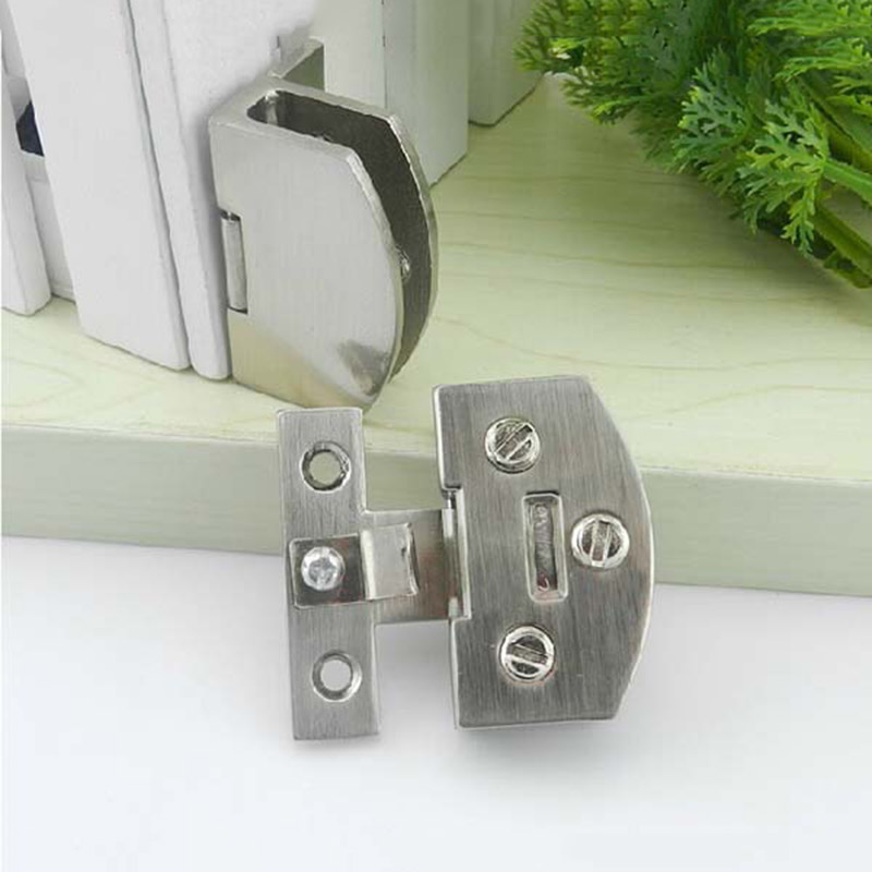 1PCS Glass Cabinet Hinges Wine Cabinet Door Hinges Zinc Alloy Glass Cabinet Hinge Cabinet Sub Glass Door Hinges Can Clamp 8-10mm 2pcs set stainless steel 90 degree self closing cabinet closet door hinges home roomfurniture hardware accessories supply