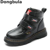 2019 الأطفال أحذية الخريف الشتاء جلد طبيعي المدرسة الصبي الأحذية الأزياء أفخم الدافئة للماء الثلوج الاطفال مارتن الأحذية|أحذية برقبة طويلة|   -