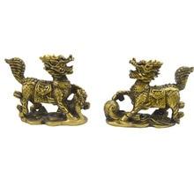 Feng Shui Chi Lin Qi Lin Chinese Dragon Horses Statue
