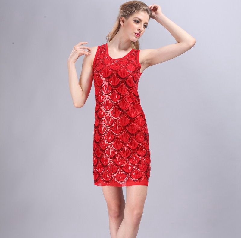bbfd86fe276 Летний стиль женское платье Мода 2016 года без рукавов Блёстки Slim Mini женщины  Платья для вечеринок блестками платье клуба сверкающие Vestidos