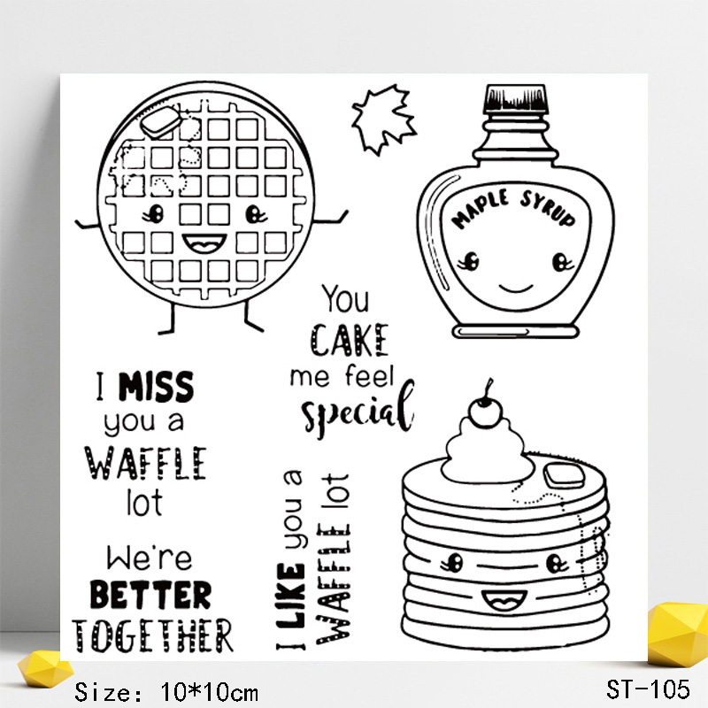 AZSG Personate Cookies Cake Clear Stamps Seals For DIY Scrapbooking Card Making Album Decorative Silicone Stamp Crafts in Stamps from Home Garden