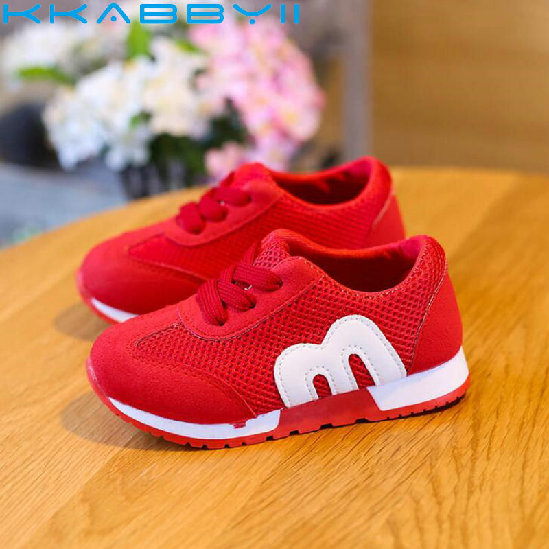Spring Summer Kids Fashion Sneakers Girls Mesh Shoes Boys Running Shoes Children Sports Sneakers Toddler Breathable Shoes