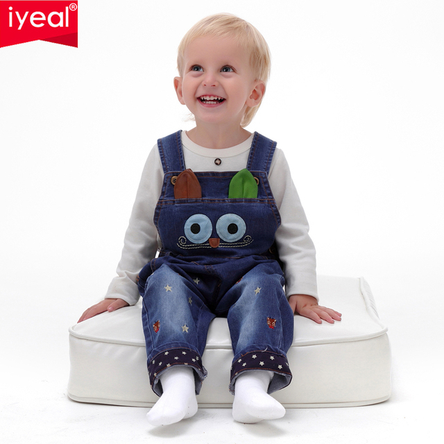 429872ac9c6 IYEAL 2017 Autumn Baby Rompers Animal Baby Boy Girl Jeans Jumpsuit High  Quality Denim Overalls Infant ...