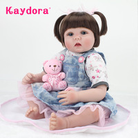 Kaydora 55cm Soft Silicone Doll 22 Inches Reborn baby reborn menina Adorable Reborn Dolls Toy for Girls Kids Christmas Gift