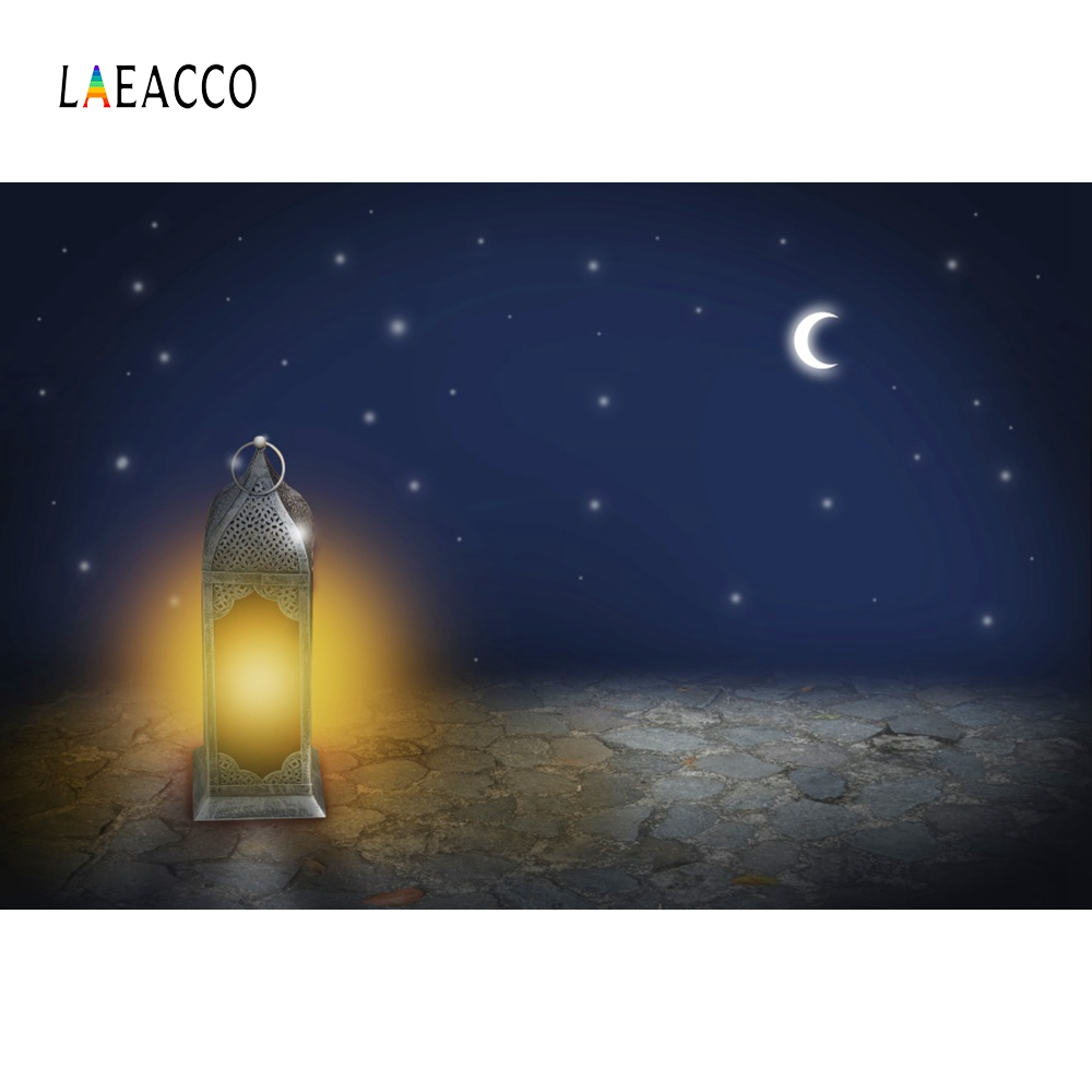 Laeacco Eid Mubarak Ramadan Festival Lantern Fasting Muslim Photographic Background Scene Photography Backdrops For Photo Studio in Background from Consumer Electronics