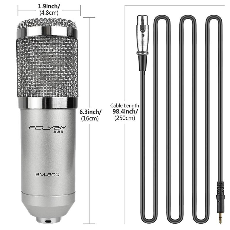 FELYBY Marque Professional bm 800 à condensateur KTV Microphone & - Audio et vidéo portable - Photo 2