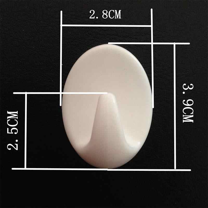 6X6cm OVINEE 24 Piezas Ganchos de Pared Adhesivo Ganchos de Comando Transparente para Colgador de Cocina Ba/ño Puerta Techo