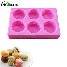 6 Cavity Silicone Macaron Vorm Burger Zeep Vorm Mold Cake Decoratie Chocolade Schimmel Biscuit Bakken Mat Pan Bakvormen Tray Mould(China)