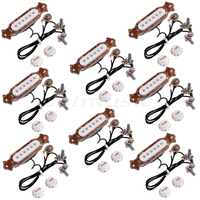8x Perfect Guitar Pickups For Jazz Electric Acoustic Guitar Pickups Pre Wired