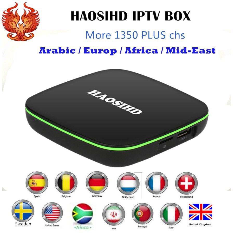 где купить  [HAOSIHD] Smart iptv box FireTV A1 with one year subscription free 1350 Arabic Europe Africa America chs good for UK Sweden  по лучшей цене