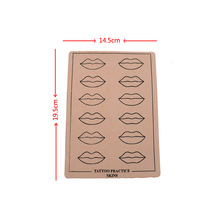 10PCS High Quality Rubber Professional Permanent Makeup Lip Durable Tattoo Practice Skin For Artist New Starter Free Shipping &T
