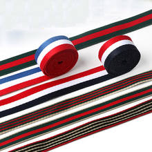 20mm red Stripe yarn-dyed ribbon DIY bowknot accessories satin handmade Riband tape 3M/lot Clothing Sewing