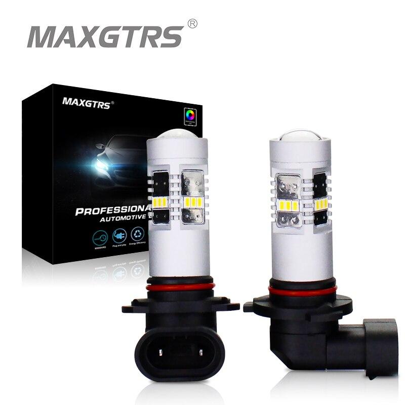 2x H8 H11 9005 9006 H16 HB3 HB4 светодиодные противотуманные лампы 3020 фишек автомобилей дневного света 4300 К/ 6000 К теплый белый лампы передние фары