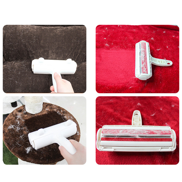 Pet Hair Cleaning Brush Fur Removing Roller Lint Brush Dog Cat Brush Animals Hair Remover Car Clothing Couch Sofa Carpets Comb 2