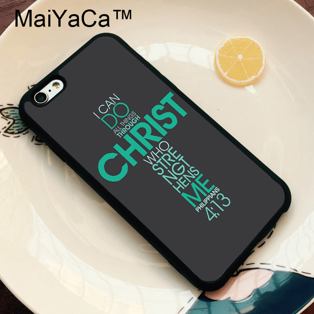 MaiYaCa Bible Philippians Jesus Christ Christian Phone Case For iPhone 6 6S Phone Bags For iPhone 6S 6 Back Cover Funda Shell