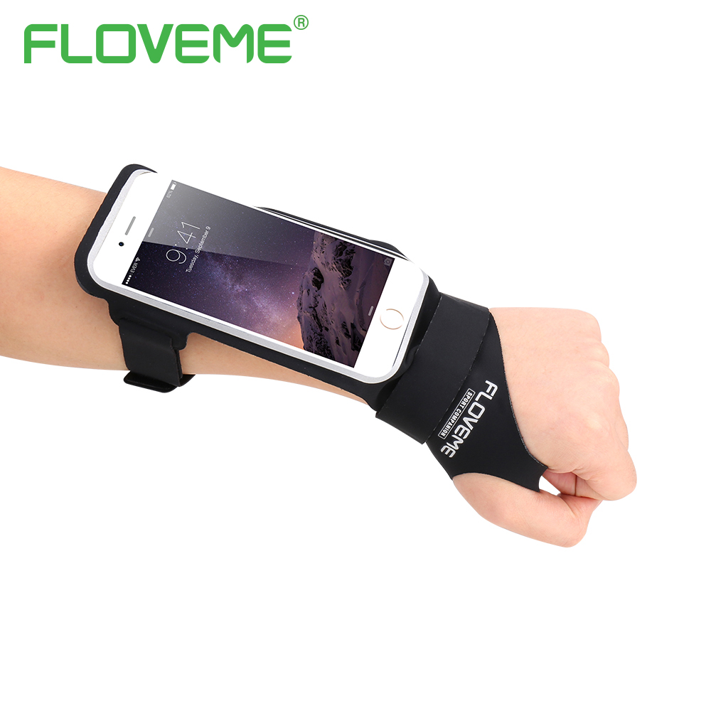 FLOVEME Armband For iPhone 6 6S 7 Plus 5.5 4.7 inch Universal Waterproof Sport Armband Case Card Holder For iPhone 7 6 6S Plus