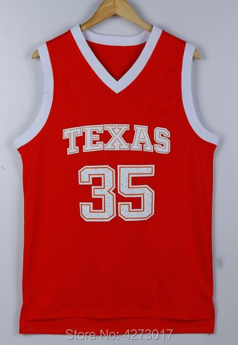 newest 366ae 45705 Free Shipping 35 Kevin Durant Jersey Men Texas Longhorns College Basketball  Jerseys Durant Sports Uniform Orange White-in Basketball Jerseys from ...
