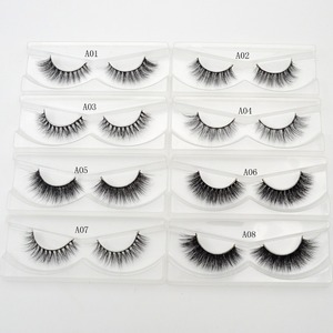 Image 3 - Free DHL 100 Pairs 3D Real Mink Eyelashes Wholesale HandMade Thick Natural Long False Eye Lashes Extension Makeup 33 Styles Lash