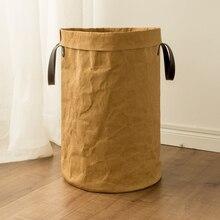 Большой крафт-бумажный мешок для пикника корзина для хранения Прочный детский ящик для хранения игрушек