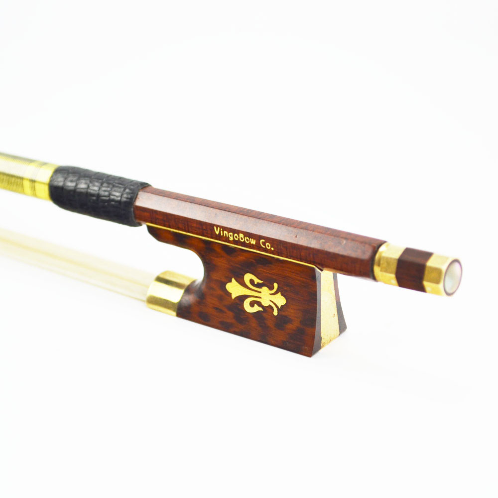 127V 4/4 Size VIOLIN BOW Carbon Fiber Core with Pernambuco Skin Stick Snakewood Frog Natural Horsehair Violin Parts Accessories 1 4 size 812vb pernambuco violin bow high density ebony frog with nickel silver good quality hair straight violin accessories