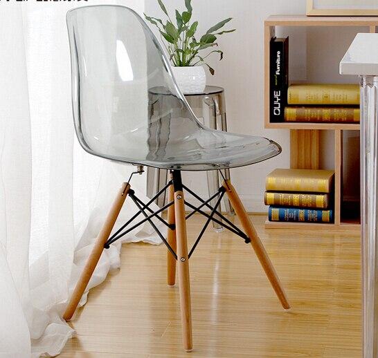 Mav mobili moderni designer iconica sedia di plastica, trasparente ...