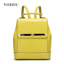 2017 Women Backpack For Teenagers Girls Laptop Waterproof Lock Blue Designer Computer Luxury Leather Tote Fashion Female Bags