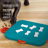 Dog Casino Unlock Pull & Treat Toy Pet Dog Puppy High IQ Development Training Interactive Game Toy Educational Food Feeder Toys