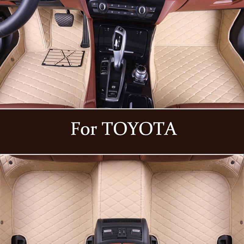 Personnalisé personnalisé tapis de sol de voiture pour TOYOTA Avensis Allion Auris Hybride Couronne RAV4 Alphard 4runner Hilux Highlander modèles