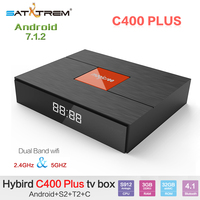 Magicsee C400 Plus Amlogic S912 3GB DDR3 32GB Android 7.1.2 4K Smart TV Box DVB S2 DVB T2 DVB C Dual WiFi Pk MECOOL KIII Pro