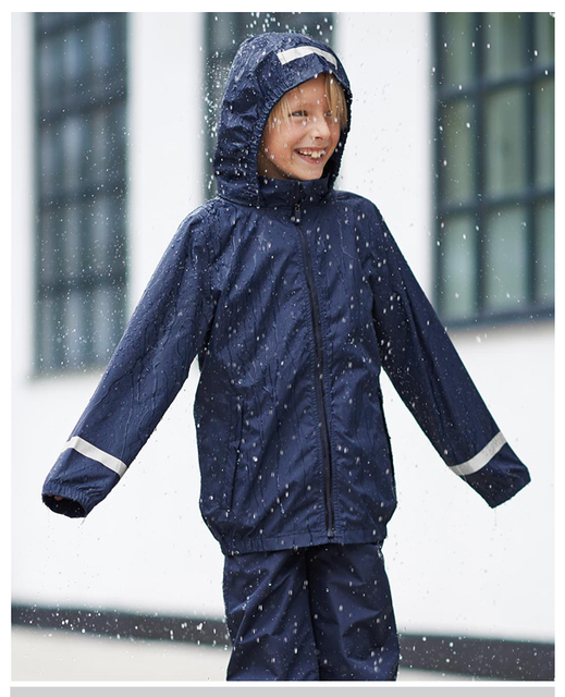 4T-12T Top Quality Kids Raincoat for Boy Girl Germany Brand Non-poisonous Waterproof Students Raincoat Children Outdoor Clothing