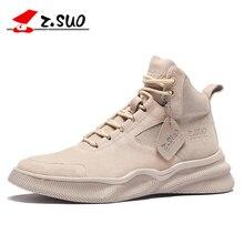 ZSuo Men Sneakers High Top Fashion Soft Skateboarding Shoes  Quality Ultralight Walking