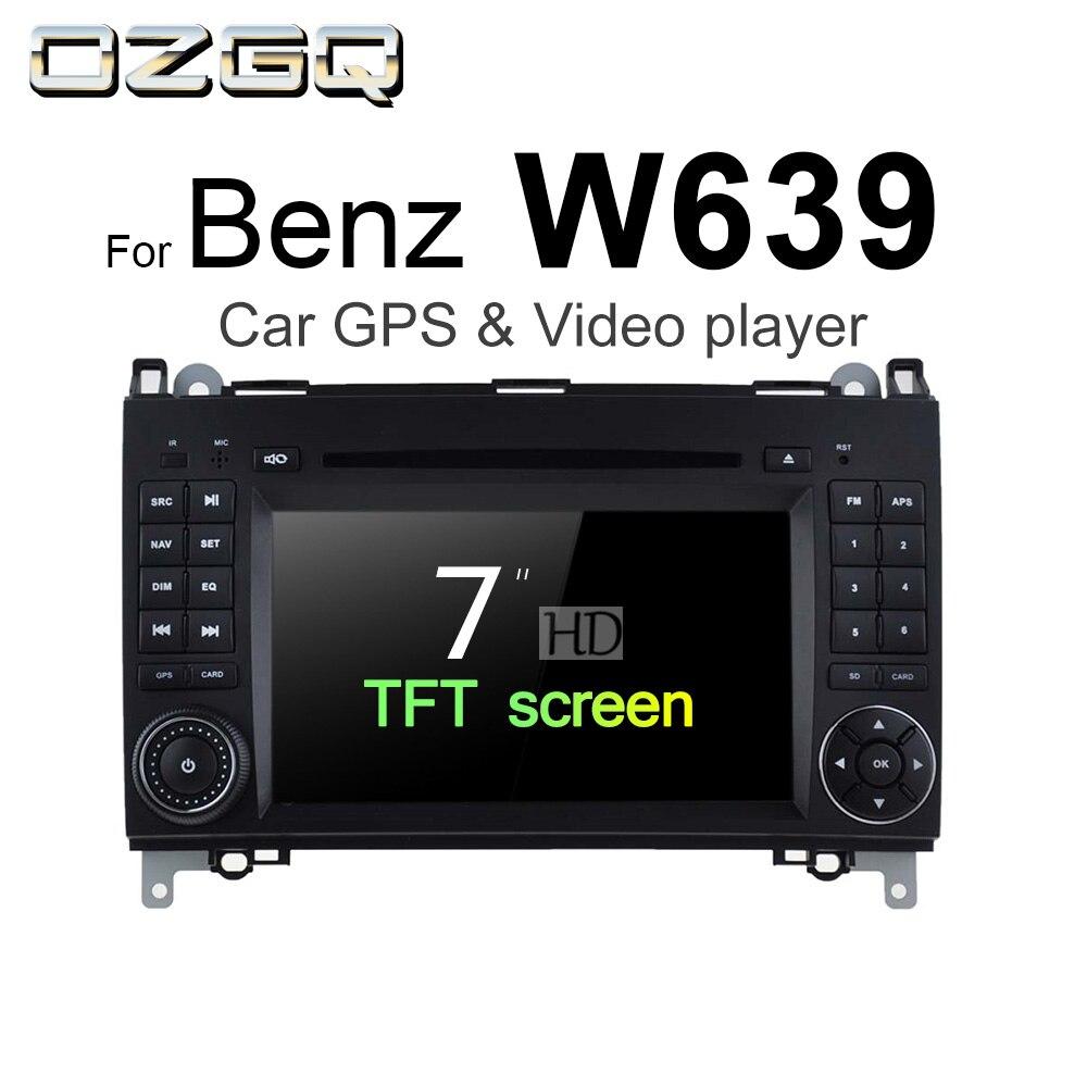 OZGQ Android 7.1 Car DVD Player For Mercedes Benz W639 Vito Viano Valente V Class 2006 2014 Auto GPS BT Radio TV Audio Stereo