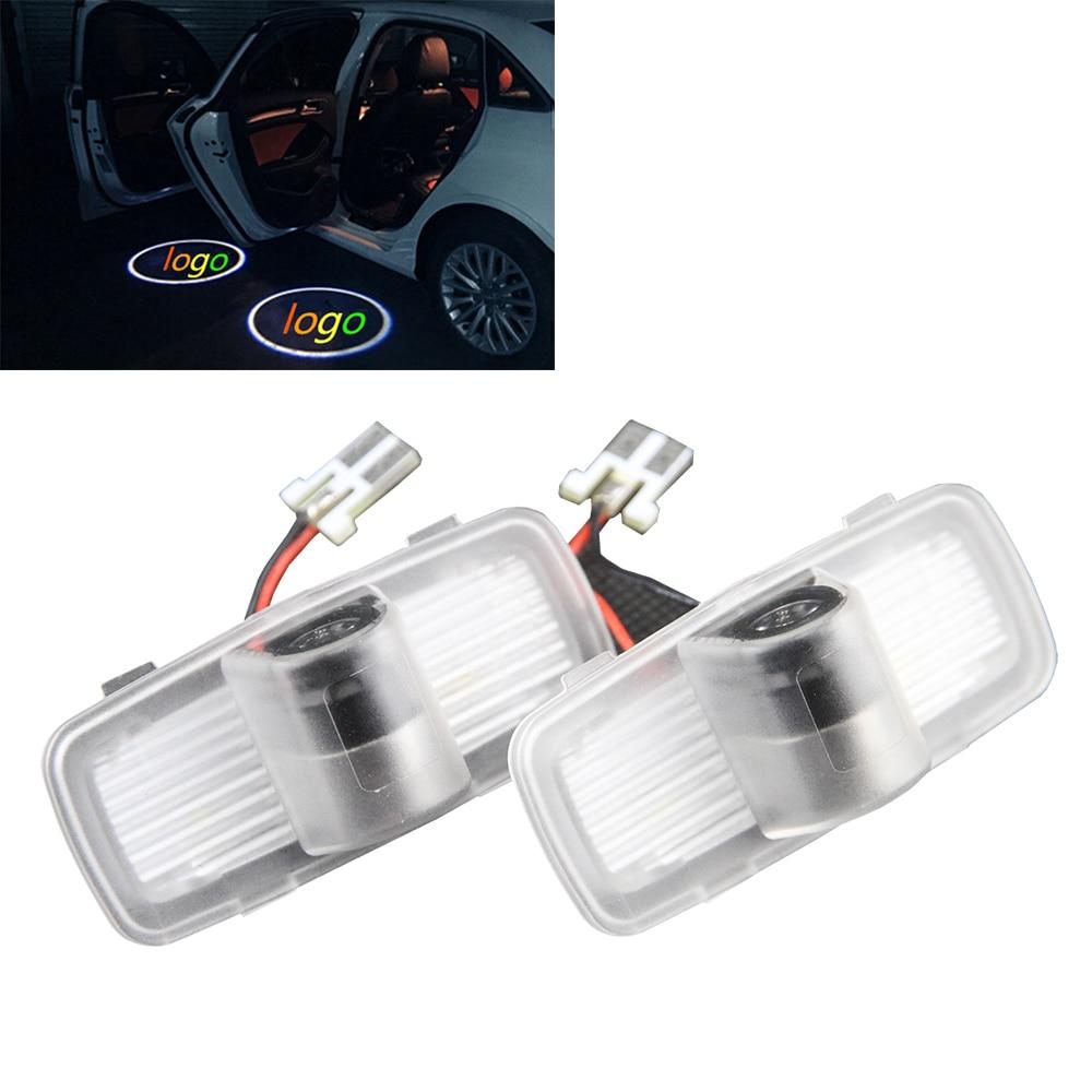 2pcs set car led courtesy door logo projector light ghost shadow light for honda accord
