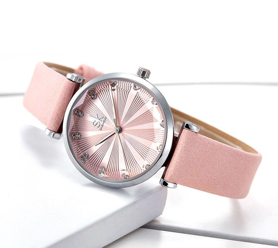 SK Luxury Brand Leather Ladies Wrist Watches Women Prism Quartz Watch For SHENGKE Female Clock reloj mujer 2019 relogio feminino (13)