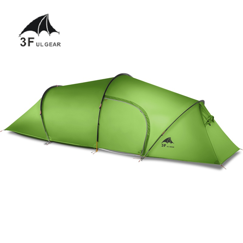 3f Ul Gear 2 Person 4 Season Tunnel Tent Outdoor Camping Hiking Ultralight Large Space Tents single bedroom apartment camping tent tunnel tents 2 3 person outdoor 2 layer driving filed tent canopy easy and convenient